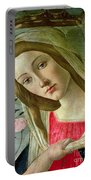 Madonna And Child Crowned By Angels Portable Battery Charger
