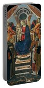 Madonna And Child Enthroned With Saints And Angels Portable Battery Charger