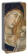Madonna And Child Fragment  Portable Battery Charger
