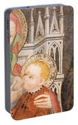 Madonna And Child Fresco, Italy Portable Battery Charger