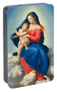 Madonna And Child In Glory Portable Battery Charger