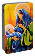 Madonna And Child Painting Portable Battery Charger
