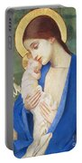 Madonna And Child Portable Battery Charger by Marianne Stokes