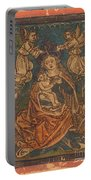 Madonna And Child Seated On A Grassy Bank With Angels Portable Battery Charger