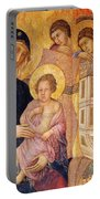Madonna And Child Surrounded By Angels Portable Battery Charger