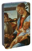 Madonna And Child With An Angel Portable Battery Charger
