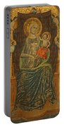 Madonna And Child With Five Angels Portable Battery Charger
