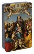 Madonna And Child With Saint Anne And The Patron Saints Of Florence Portable Battery Charger