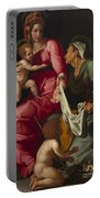Madonna And Child With Saint Elizabeth And Saint John The Baptist Portable Battery Charger