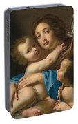 Madonna And Child With Saint John The Baptist Portable Battery Charger