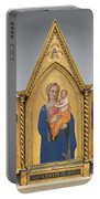 Madonna And Child With Saint Peter And Saint John The Evangelist [middle Panel] Portable Battery Charger