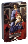 Madonna And Child With Six Saints Portable Battery Charger