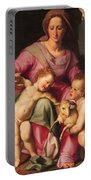 Madonna And Child With The Infant Saint John The Baptist Portable Battery Charger