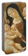 Madonna And Child With Two Angels Portable Battery Charger