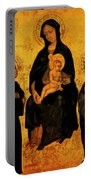 Madonna In Gloria Between Saint Francis And Santa Chiara Gentile Portable Battery Charger