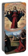 Madonna In Glory And Holy Hones Portable Battery Charger
