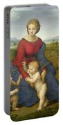 Madonna In The Meadow Portable Battery Charger