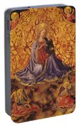 Madonna Of Humility With Christ Child And Angels Portable Battery Charger