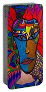 Magdalena On Fire - Mask - Abstract Face Portable Battery Charger