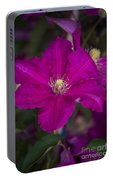 Magenta Clematis Portable Battery Charger