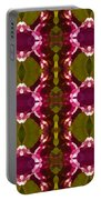 Magenta Crystal Pattern Portable Battery Charger by Amy Vangsgard
