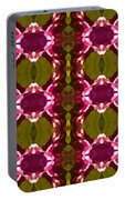 Magenta Crystal Pattern Portable Battery Charger