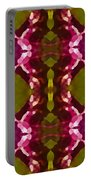 Magenta Crystals Pattern 2 Portable Battery Charger