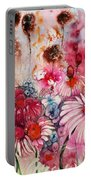 Magenta May Flowers Portable Battery Charger