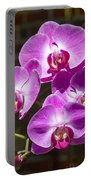 Magenta Orchids Portable Battery Charger