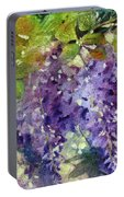 Magic In Purples And Greens Portable Battery Charger