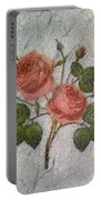 Magic Roses Antique Look Art Portable Battery Charger