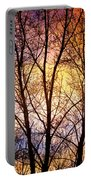 Magical Colorful Sunset Tree Silhouette Portable Battery Charger