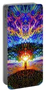 Magical Tree And Sun 2 Portable Battery Charger