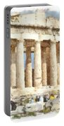 Magnificent Acropolis In Athens Portable Battery Charger
