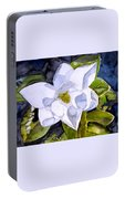 Magnolia 2 Flower Art Portable Battery Charger
