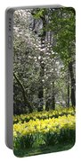 Magnolia And Daffodils Portable Battery Charger