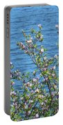 Magnolia Flowering Tree Blue Water Portable Battery Charger