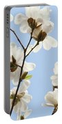 Magnolia Flowers White Magnolia Tree Flowers Art Spring Baslee Troutman Portable Battery Charger