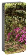 Magnolia Plantation's Live Oaks And Azaleas  Portable Battery Charger