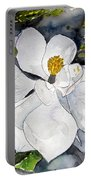 Magnolia Tree Flower Portable Battery Charger