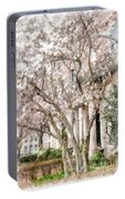 Magnolias In Back Bay Portable Battery Charger