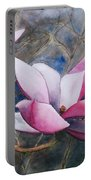 Magnolias In Shadow Portable Battery Charger