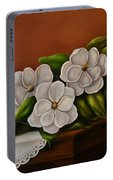 Magnolias On A Table Portable Battery Charger