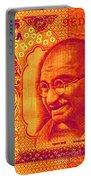 Mahatma Gandhi 500 Rupees Banknote Portable Battery Charger