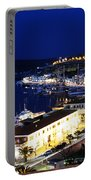 Mahon Harbour At Night Portable Battery Charger
