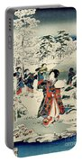Maids In A Snow Covered Garden Portable Battery Charger