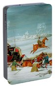 Mail Coach In The Snow Portable Battery Charger