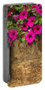 Mailbox With Petunias Portable Battery Charger
