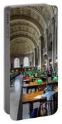 Main Reading Room Of Boston Public Library Portable Battery Charger
