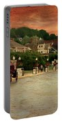Main Street Mackinac Island Michigan Panorama Textured Portable Battery Charger